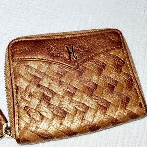 COLE HAAN Zip Around ID Debit Card Wallet Wristlet